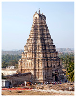Virupaksha Temple Tower or Gopura (Entrance Structure of a South Indian Temple)