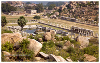 Pushkarni or Holy Tank and a View from the Top @ Hampi. December 2013.